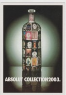 PROMOCARD N°   4104   ABSOLUT COLLECTION 2003 - Pubblicitari