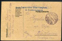 13.WWI Austro-Hungarian 1917 K.U.K. TABORI POSTAHIVATAL # 105 Card - Covers & Documents