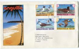 ANGUILLA LETTRE DEPART ANGUILLA 3 DEC 1990 VALLEY POUR LA FRANCE - Anguilla (1968-...)