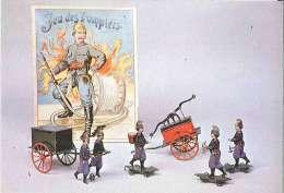 CPM Pompiers - Poissy - Musée Du Jouet - Sapeurs Pompiers De Tôle Peinte - 1880 - Jeux Et Jouets