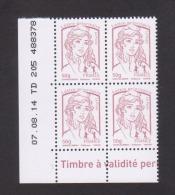FRANCE / Coin Daté / Y&T N° 4771 / 2014/08/07 / TD 205 / Marianne De Ciappa TVP LET 50g - 2010-....