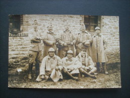 Carte Photo Groupe De Militaires  Poilus Du 35e RA Ww1 -  Non Circulée  L223B - Guerre 1914-18