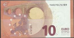 10  EURO DRAGHI  GRECIA  YA  Y001 I3   UNC - EURO