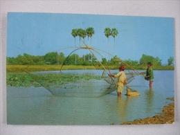 K03 Postcard Thailand - Thai Farmer's Fish-fishing - Thailand