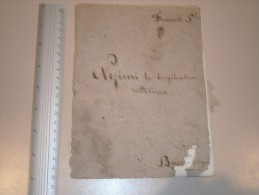 NOZIONI DI TRIGONOMETRIA RETTILINEA - FASCICOLO 5e - BUSSE..... ANGELO - 18e S. - Historical Documents
