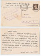 MILANO - AZIENDA GENERALE ITALIANA PETROLI - CARTOLINA POBBLICITARIA - 1934 - Milano