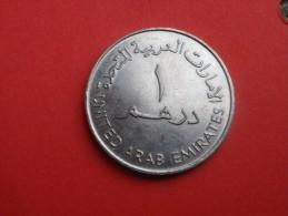 EMIRATS   1 DIRHAM 1982  -1402 AH-   KM 6.1   CUP. NICKEL  TTB - Emirats Arabes Unis