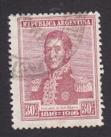 Argentina, Scott #225, Used, Jose De Martin, Issued 1916 - Used Stamps