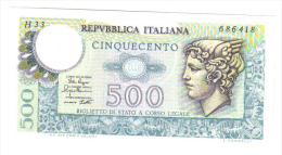 500 LIRE MERCURIO 14 02 1974 FDS ( Varie Sigle ) LOTTO 1177 - 500 Lire