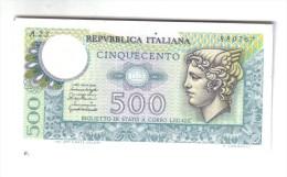 500 LIRE MERCURIO 20 12 1976 FDS ( Varie Sigle ) LOTTO 1178 - [ 2] 1946-… : Repubblica