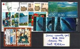 2001  ISOLE FAROER   Annata Cpl   ** MNH Senza FG - Isole Faroer