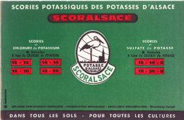 Buvard Publicitaire Des Potasse D' Alsace, TBE - Agriculture