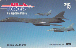 USA - Air Force, F-16 Fighting Falcon, TCM Prepaid Card $15, Mint - Vliegtuigen