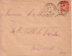 IRIS - 1F50 ORANGE N°435 - SEUL SUR LETTRE DE VERDUN SUR MEUSE LE 21-1-1942. - Marcophilie (Lettres)