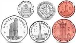 ISLE OF MAN IOM 6 COINS SET 1, 2, 5, 10, 20, 50 PENCE 2013 UNC - Monnaies Régionales