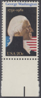 !a! USA Sc# 1952 MNH SINGLE W/ Bottom Margin (a1) - George Washington - Stati Uniti