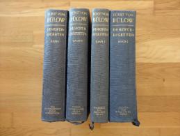 BERNHARD  FURST VON BULOW DENKWURDIG KEITEN BAND 1 2 3 4  POSCIMUR - 5. Guerres Mondiales