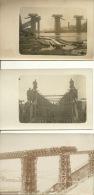 3 Cartes Photo , Беларусь Biélarous Locomotive  Pont 1915 Grodno - Belarus