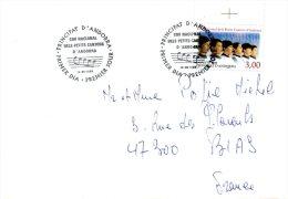 ANDORRE. N°480 De 1996 Sur Enveloppe 1er Jour. Choeur National Des Petits Chanteurs D'Andorre. - Musik