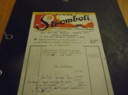 Facture , Glaces STROMBOLI , 114 Rue Des Moines, Paris 17e ,  1961 - Alimentaire