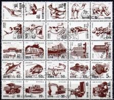 Motive Architektur Fisch Auto Tiere Skulptur 1995 Korea 3765-3793 Im 25-KB O 80€ Topic Bloc Hb M/s Art Sheetlet Bf Corea - Stamps