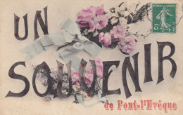 14 CPA Souvenir De Pont L'Evêque - Fleurs - Pont-l'Evèque