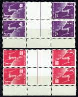 1950  75è Ann UPU  Blocs De 2 Paires De Tête-bêche Et Marge Inférieure ** Impeccable  MNH - Israel