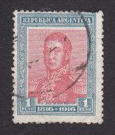 Argentina, Scott #227, Used, Jose De Martin, Issued 1916 - Usati