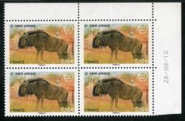 """Bloc De 4 Timbres** De 2005  """"0,95 € - UNESCO - Gnou D'Afrique"""" Avec Date 28/08/15 - Dienstpost"""