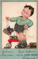 Illustrateur Signé Béatrice MALLET - Enfant - Humour - Cirage LION NOIR - Mallet, B.