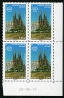 "Bloc De 4 Timbres** De 2005  ""1,20 € - UNESCO - Sagrada Familia - Espagne"" Avec Date 28/08/15 - Dienstpost"