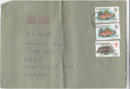 1983 Air Mail BERMUDA COVER  FISH , LOBSTER Stamps - Fishes