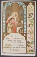 IMAGE PIEUSE BOUMARD Fils Pl 4023 (chromo Fin XIXème)  NOTRE DAME DE LA 1re COMMUNION P.P.N.  / SANTINO - Andachtsbilder