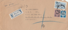 1960 REGISTERED Air Mail QIRYAT YAM ISRAEL COVER Stamps To GB - Israel