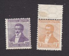 Argentina, Scott #215-216, Mint Hinged, Francisco Narciso De Laprida, Issued 1916 - Argentina