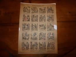 Vers 1900 Imagerie Pellerin  HISTOIRE D'UN PAUVRE ÂNE Texte De Mme Pape-Carpantier  Imagerie D'Epinal   Planche N° 1226 - Collections