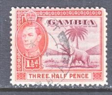 GAMBIA  134   (o)     FAUNA  ELEPHANT - Gambia (...-1964)