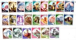 PA26 - ITALIA Repubblica 1980 - Castelli D'Italia. Serie Ordinaria - 24 Val.***  MNH - 1946-.. République