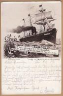 HAMBURG AMERICA PACKELF   Vom Bord SS Wieland 1894  Sh92 - Paquebots