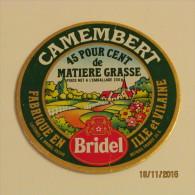 ETIQUETTE CAMEMBERT BRIDEL - Fromage