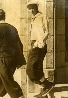 Roi Leopold De Belgique à Saint Moritz Ancienne Photo De Presse 1937 - Famous People