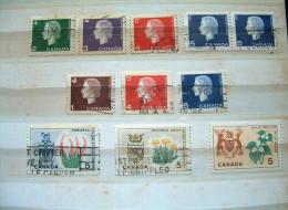 Canada 1962 - 1964 - Queen - Arms - Flowers Deer - 1952-.... Reign Of Elizabeth II