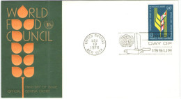 ONU - NAZIONI UNITE - UNITED NATIONS - NATIONS UNIES – 1976 - World Food Council - New York - FDC - New York - Sede Centrale Delle NU