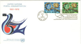 ONU - NAZIONI UNITE - UNITED NATIONS - NATIONS UNIES – 1976 - 25 Years UN Postal Administration - New York - FDC - New York - Sede Centrale Delle NU