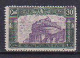 REGNO D'ITALIA   1930  PREVIDENZIA MILIZIA SASS. 272 MNH XF - 1900-44 Vittorio Emanuele III