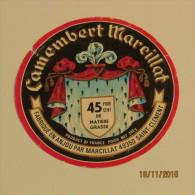 ETIQUETTE CAMEMBERT MARCILLAT - Fromage