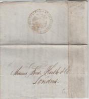 Turkey 1832 Constantinople To London England - Semlin - Netto Di Fuora Et Sporco Di Dentro - Levant - Turkey