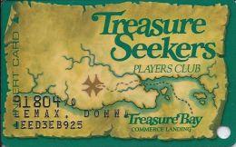 Treasure Bay Casino Tunica 1st Issue Slot Card - Green Map - Casino Cards