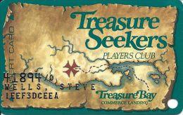 Treasure Bay Casino Tunica 1st Issue Slot Card - Brown Map - Casino Cards