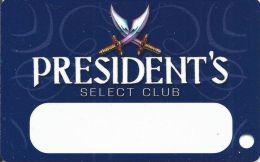 Trump Taj Mahal Atlantic City NJ 10th Issue President´s Select Club Slot Card (Blank) - Casino Cards